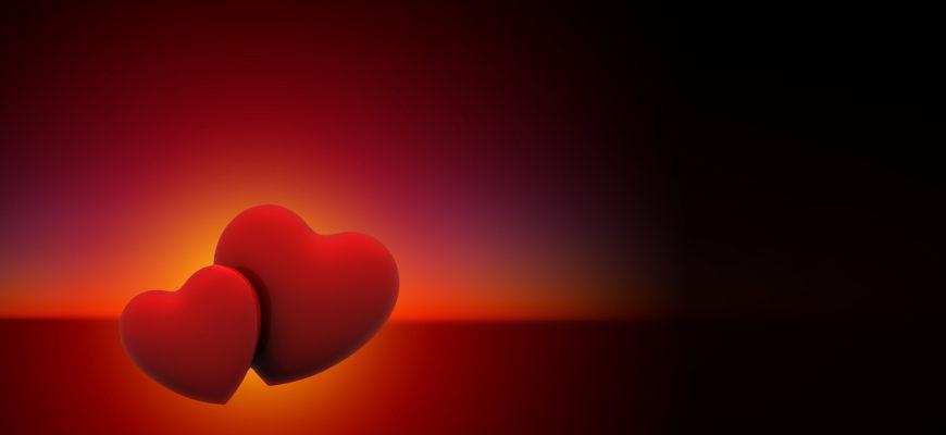 Два красных сердца. Коллекция мудрых фраз про любовь