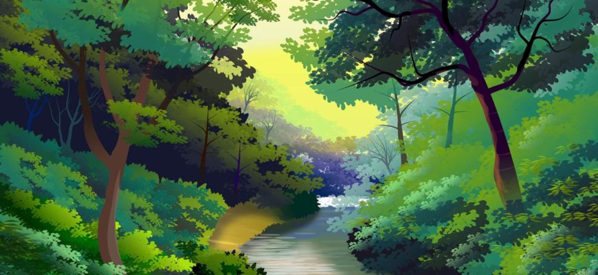 Лесной пейзаж. Подборка красивых поговорок про лес